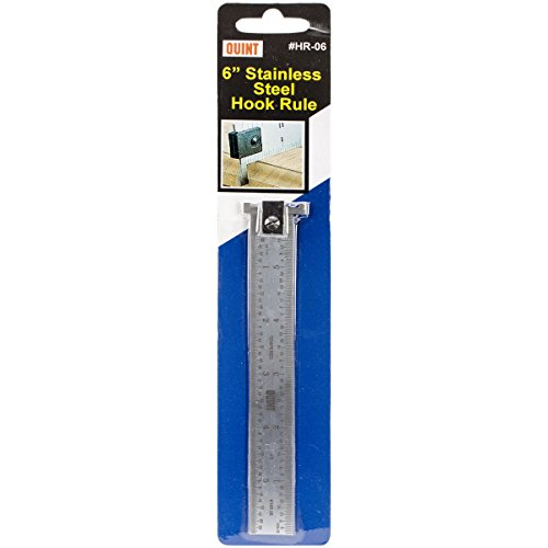 Quint Measuring Systems Stainless Steel Hook Rule, 6-Inch (Quint Measuring Systems)