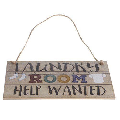 Homyl LAUNDRY ROOM Word Reminding Wooden Plaque Gift Sign Decoration