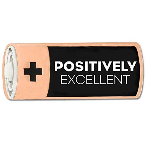 PinMart Positively Excellent Motivational Recognition Enamel Lapel Pin