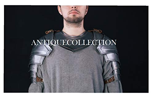Medieval Knight Pauldrons and Gorget Shoulder Armor Fantasy Warrior Costume -