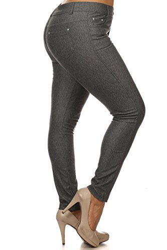Womens Cotton Stretchy Jeggings Pockets