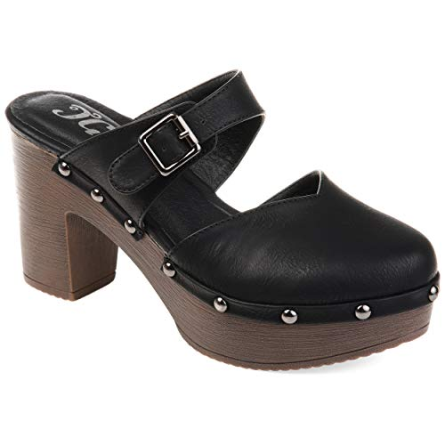 Journee Collection Womens Saige Clog Black, 8.5 Regular US from Journee Collection