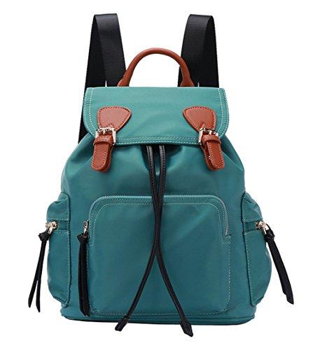 Mochila de mujer,HopeEye Mujer Mochila Nylon impermeable Bolso del hombro bolsa de mano Mochilas tipo casual Bolsa de Viaje 1-verde Oscuro