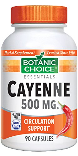 Cheap Botanic Choice Cayenne 500mg 90-Count Capsules (Pack of 6)