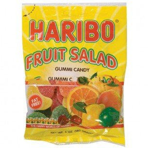 HARIBO GUMMY FRUIT SALAD 5 OUNCES 12 COUNT by Haribo