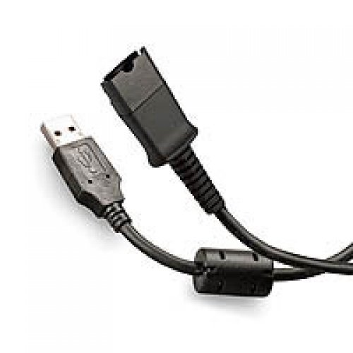 Skype Usb Phone Adapter (Plantronics Compatible QD- USB Adapter Bottom Cable VOIP / UC connects and Works with any Plantronics or TruVoice headset to Any Computer, Laptop or Softphone)