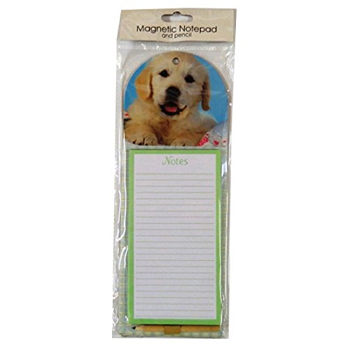 Notes, To Do List Magnetic Notepad - Puppy - 60 Sheets - Size 11.2' x 4' Tallon