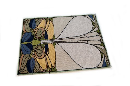 - Rennie & Rose Collection Placemat, Art Nouveau Floral Window, Set of 4