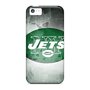 Iphone 5c Qsm10486YKnl Unique Design Lifelike New York Jets Pattern Great Cell-phone Hard Cover -AlissaDubois
