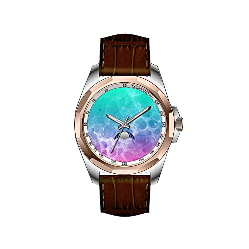 AIMS Christmas gift Mens gold Personalized Unique Fashion Design Waterproof Wrist Watch Wherrell Pretty colorful circles geometric Wristwatches
