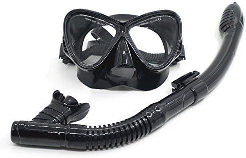 fb75120c95 Máscara de buceo, gafas de snorkel con lentes de vidrio templado, 100%  antiniebla y tecnología antifugas, Snorkel seco con suave boquilla de  silicona para ...