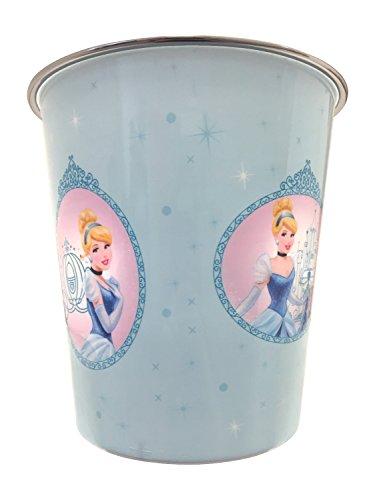 Disney Princess Cinderella Cindy Blue Wastebasket Disney Princess Trash Can