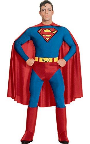 DC Comics Superman Costume, Blue, (Halloween Porcelain Doll Costume)