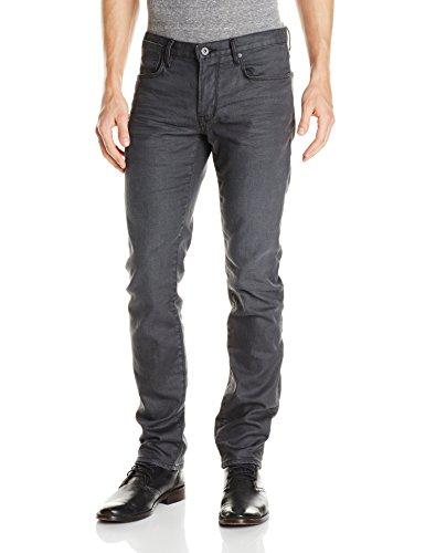 (John Varvatos Star USA Men's Bowery Fit V Stitch Pocket Jeans , Graphite, 28 Regular)