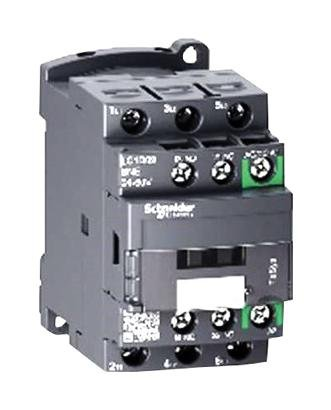 SCHNEIDER ELECTRIC, LC1D09KUE, Contactor, Non-reversing, 9 A, DIN Rail, Panel, 690 VAC, 3PST-NO, 3 Pole, 5.5 kW by Schneider Electric (Image #1)
