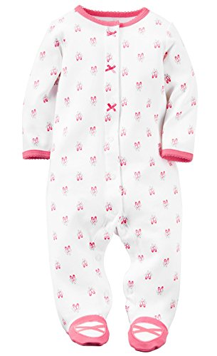 Carter's Baby Girls' Cotton Sleep & Play (9 Months, Hibiscus)