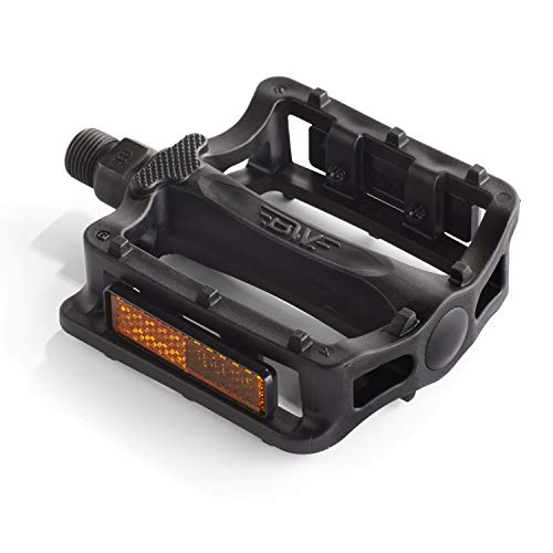 BW Resin Platform Bicycle Pedals - Universal 9/16 Road Mountain Fixie Commuter Bike Pedals