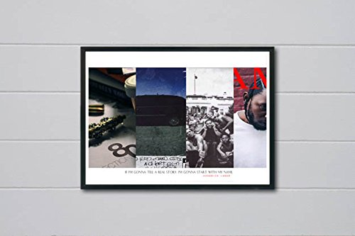 Custom Kendrick Lamar History Poster, Hypebeast Posters Prints, Rap Song Quote Poster, Music Lovers