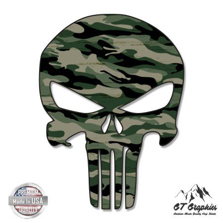 (GT Graphics Punisher Skull Camo Pattern - 3