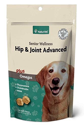 (NaturVet - Senior Wellness Hip & Joint Advanced Plus Omegas | Help Support Your Pet's Healthy Hip & Joint Function | Supports Joints, Cartilage & Connective Tissues (120 Soft Chews) )