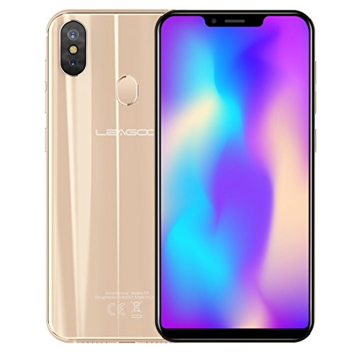 2300 Print Smart (LEAGOO S9 5.85 inch 4GB+ 32GB Dual SIM Dual Back Cameras, Android 8.1 MTK6750 Octa Core up to 1.5GHz Dual 4G, OTG, VoLTE Network Smartphone, Support Face & Fingerprint Identification (Gold))