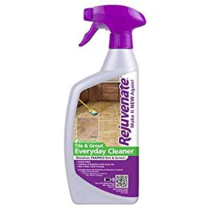 Rejuvenate Non Toxic Bio Enzymatic No Scrub Tile and Grout Cleaner Lightens and Brightens Every Time 24 Ounce