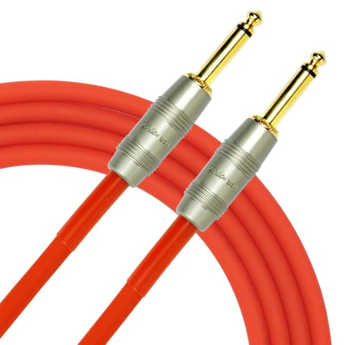 (Kirlin Cable IM-201PRG-20/RDF - 20 Feet - 1/4-Inch Straight Premium Instrument Cable Red PVC Jacket)