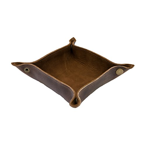 - Leather Catchall Change Key Wallet Coin Box Tray Storage Valet Handmade by Hide & Drink :: Swayze Suede