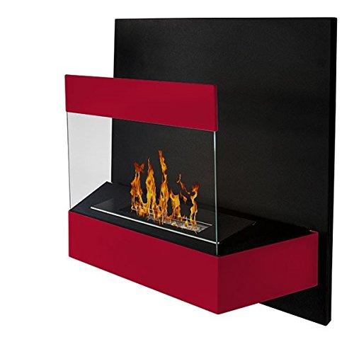 Âtre Kaleos de pared, color rojo (Chimenea de pared para etanol biológico), diseño de estufa: Amazon.es: Hogar