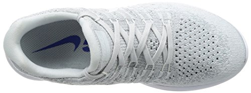 Nike Women's W Lunarepic Low Flyknit 2 Trail Running Shoes, Dark Grey, Medium White