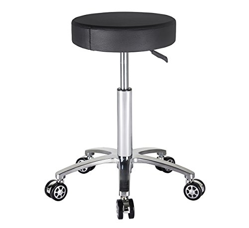 - Rolling Stool Swivel Chair for Office Medical Salon Tattoo Kitchen Massage Work,Adjustable Height Hydraulic Stool with Wheels (Black)