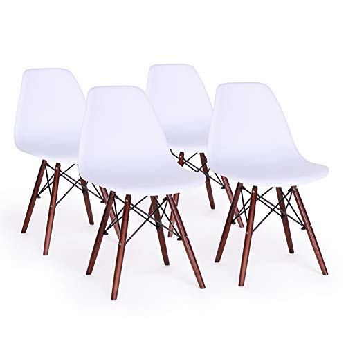 Dining Chair Set of 4 Mid Century Modern DSW Side Chairs Shell Lounge Chair for Kitchen,Dining,Bedroom,Living Room