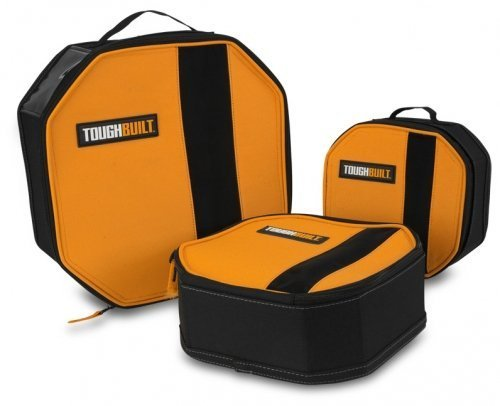 ToughBuilt - 3 Pack Toolmate Softboxes / Tool Bag | Soft Tool Box / Case / Carrier, Label Window, Hard Body Plastic Lined Wall, Heavy Duty Mesh Window, Multi-purpose Tool Storage Organizer (TB-192-C)