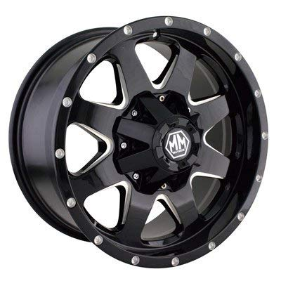 Mayhem Tank 17x9 Black Wheel / Rim 5x5 & 5x5.5 with a 18mm Offset and a 87 Hub Bore. Partnumber 8040-7952B18