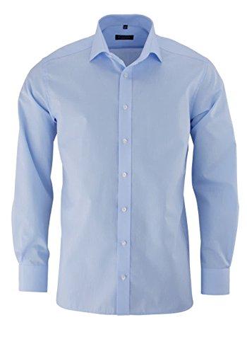 ETERNA uomini Modern Fit Uni Popeline Langarmhemd hellblau 40-H Extra lang (68cm)