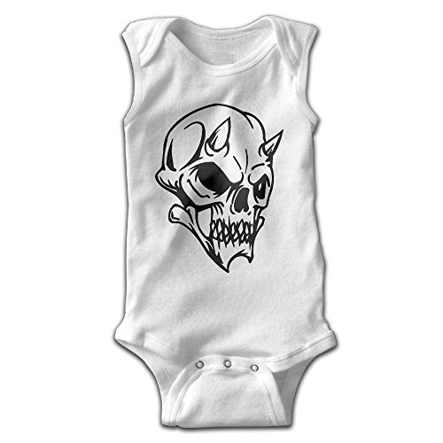 Address Verb Halloween Skull Baby Sleeveless Bodysuits Unisex Cute Lap Shoulder Onesies