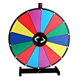 24'' Table Top Spinning Prize Wheel 14 Slot Dry Erase Fortune Spin Game