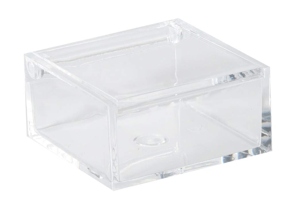 Amazoncom Clear Lucite Plastic Storage Box With Hinged Lid
