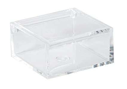 Amazoncom Clear Lucite Plastic Storage Box With Hinged Lid Acrylic
