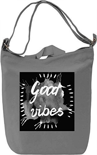 Good Vibes Borsa Giornaliera Canvas Canvas Day Bag  100% Premium Cotton Canvas  DTG Printing 