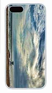 Hot iPhone 5S Customized Unique Print Design Morning On The Beach New Fashion PC White iPhone 5/5S Cases by mcsharks