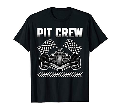 Pit Crew Car Racing Party Checkered Flag T-Shirt