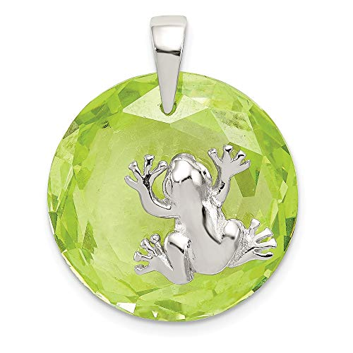 Zirconia Frog Charm - 925 Sterling Silver Green Cubic Zirconia Cz Frog Pendant Charm Necklace Animal Fine Jewelry Gifts For Women For Her