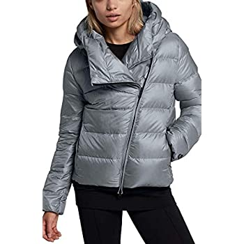 536a17643 Nike Women's Sportswear Puffer Down Jacket Black Cool Grey 854767 065 (XL)