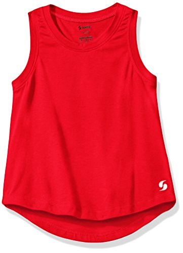 Soffe Girls' Little Camp Tank, Red, -