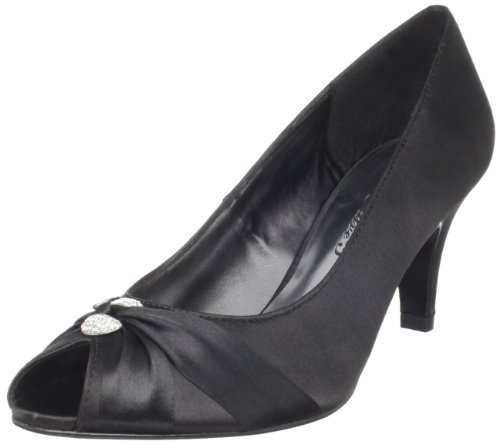 Satin Peep Easy Sunset Black Pump Women's Street Toe qa4gTyaZ