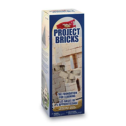 FloraCraft Foam 285 Piece Project Bricks 0.6 Inch x 0.6 Inch x 1.4 Inch Tan
