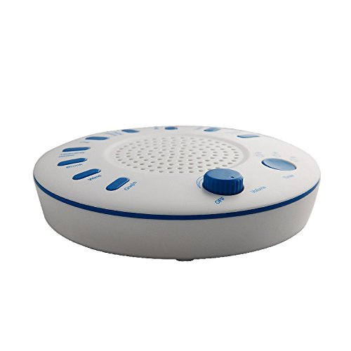 Uniclife White Noise Machine, 9 Natural Relaxation Sounds Tracks with Timer Option White Sound Machine Therapy Sound Spa Solution