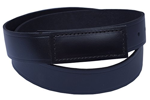 Men's No-Scratch Mechanic Belt, 100% Top Grain One Piece Leather, 1.5