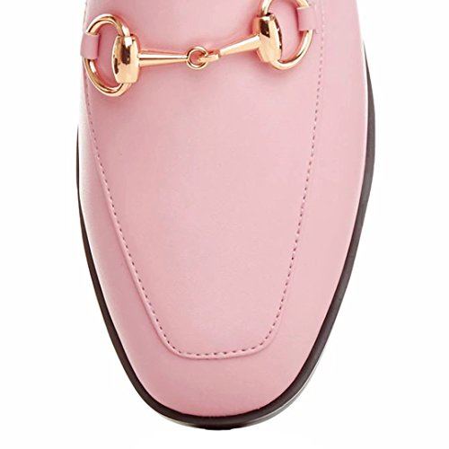 Jyshoes Chiusi Muli Piane Muli In Pelle Pantofole Estate Delle Signore Comodamente Scarpe Pantofola Rosa